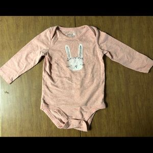 EUC Jumping Beans Sz 12M Pink Bunny 🐰 Onsie